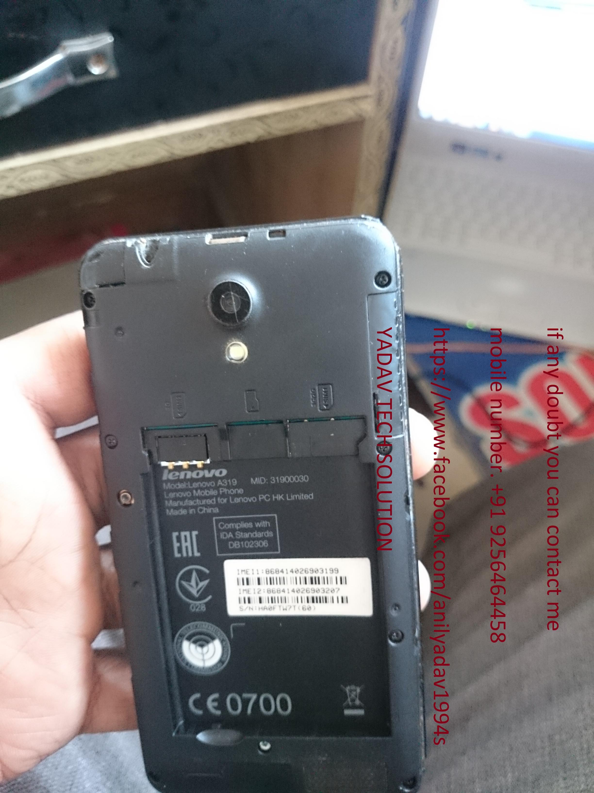 Lenovo A319 Dead Recover